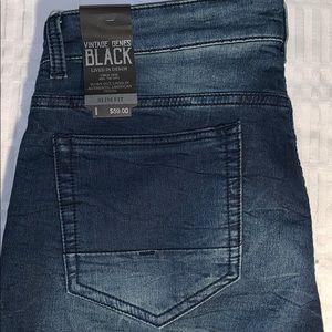 NWT Vintage Jeans Black Slim fit shorts. Soft